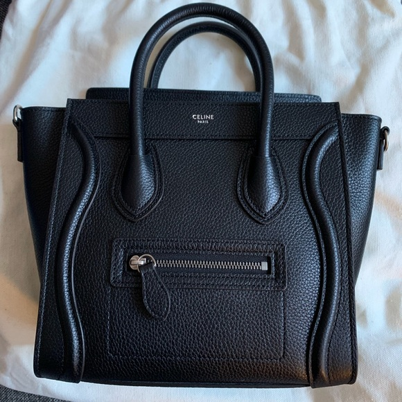 efe398276935 Celine Bags | Nano Luggage Bag Drummed Leather Nwt | Poshmark